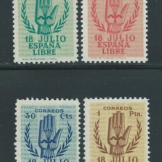 Spagna 1938 - Spanish Coup of July 1936 complete set - Edifil 851/54
