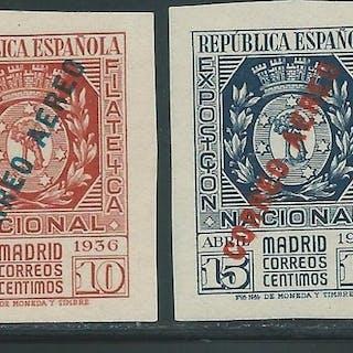 Spagna 1936 - National Philatelic Exhibition airmail - Edifil 729/790