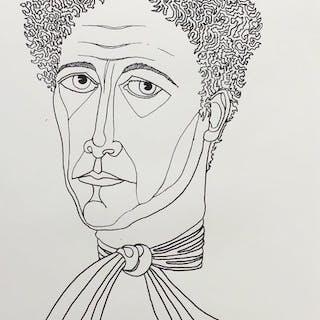 Jean Marais- Portrait de Jean Cocteau