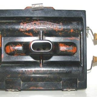 Hohner - Antigua Rolmónica-(Armónica) - con 3 rollos de música - Mundharmonika