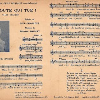 Musica, partitura e testo di un gran numero di...