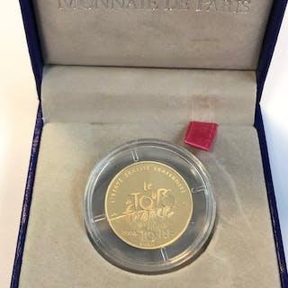 France - 10 Euro 2003 Centenaire du Tour de France - 1/4 oz - Gold