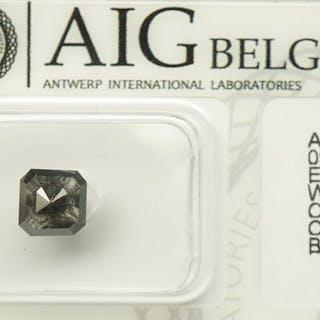 1 pcs Diamond - 1.24 ct - Emerald- fancy black - No reserve