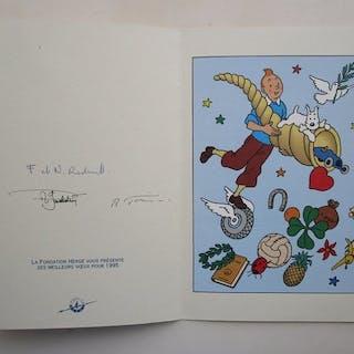 Tintin - Carte de voeux fondation Hergé 1995 - La corne d...