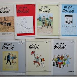 Hergé - 7x revue les amis de Hergé - numéros 14 à 20 - 7x...