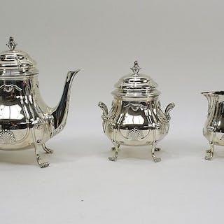 Tea service (3) - .950 silver - Emile Puiforcat - France - Ca. 1900