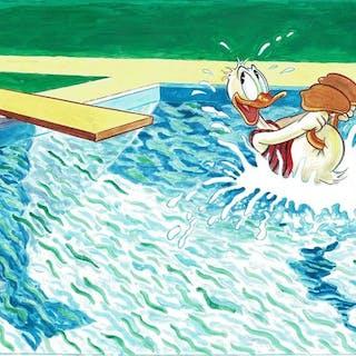 Donald Duck inspired by David Hockney - Original Large...