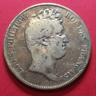 """Frankreich - 5 Francs 1830-D (Lyon) Louis Philippe type SANS LE """"I"""" - Silber"""