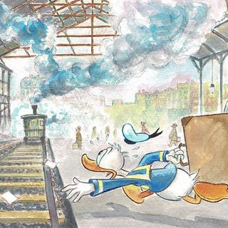 Donald Duck inspired by Monet