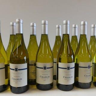 2017 Chablis - Antoine de Courcelles - Bourgogne - 11 Flaschen (0,75 l)