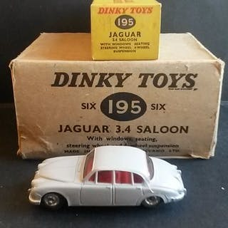 Dinky Toys - 1:48 - No.195 Jaguar 3.4 Saloon MIB - Surboite Box und Händler