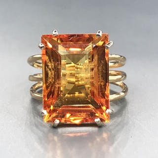 18 kt. Yellow gold - Ring - 14.85 ct Citrine