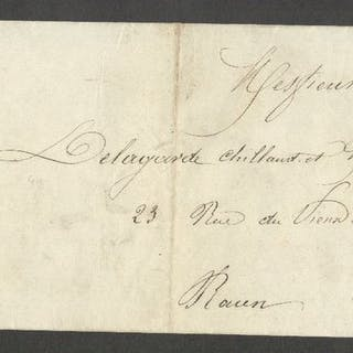 Frankreich 1867 - Rare letter from Paris bound for Rouen with two No.21 stamps