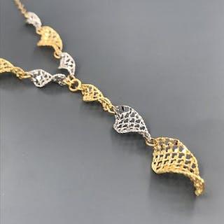 18 carati Oro bianco, Oro giallo - Collana con pendente