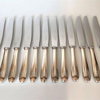 Christofle - 12 Grands couteaux de service - Métal argenté