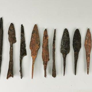 Medieval Viking Era Iron Arrows