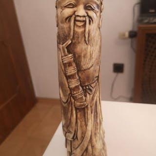 Chinese bone statue (1) - Bone - China - Late 19th century