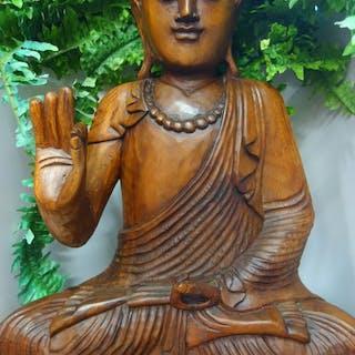 Skulptur - Holz - Buddha - Bali, Indonesien