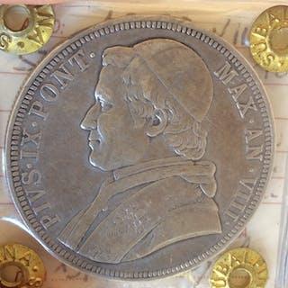 Italia - Stato Pontificio - 1853 - Scudo Pio IX - a.VIII - Roma  - Argento