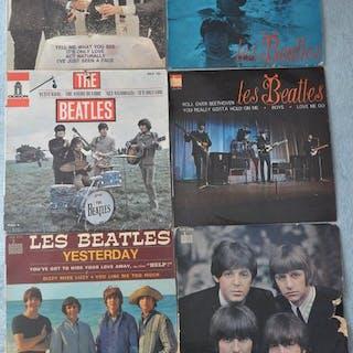 Les Beatles Ep 45T Lot Of 6 VinylsOf Wich Rares French...