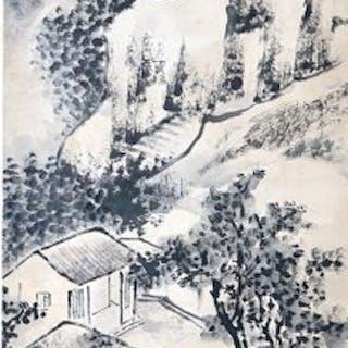 Pittura fine del paesaggio - Carta - Cina - Inizi del XX secolo