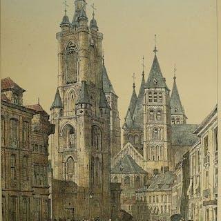 Belgien, Tournay, Doornik; Samuel Prout - Tournay - 1821-1850