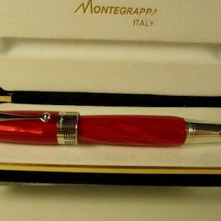"Montegrappa - Pregiata penna Extra celluloide ""rosso..."