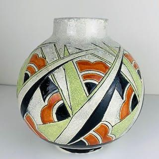 Charles Catteau - Boch Frères - La Louviere - Große Art Deco Vase