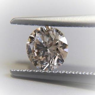 1 pcs Diamond - 0.73 ct - Round - S-T [GIA certificate] - light brown - SI1