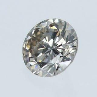 1 pcs Diamond - 0.52 ct - Round - Q-R [GIA certificate] - very light brown - SI1