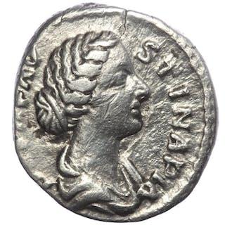 Impero romano - AR denarius Faustina II (died  A.D