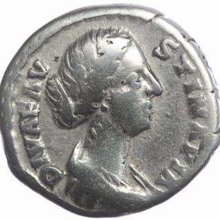 Impero romano - Denarius Diva Faustina Junior (AD...