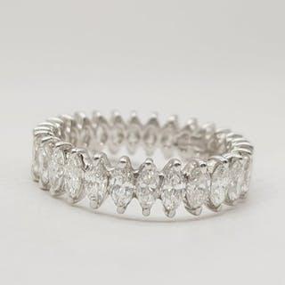 18 kt. White gold - Ring - 3.15 ct Diamond