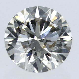 1 pcs Diamond - 0.76 ct - Round - S-T [GIA certificate] - light brown - VS2