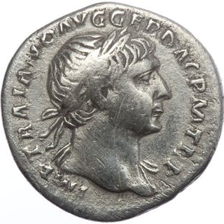 Impero romano - AR denarius - Trajan (AD 98-117) - Aequitas (RIC 119) - Argento