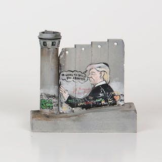 Banksy - 'Defeated' Wall Section (Donald Trump)