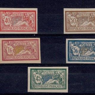 Francia 1900/1907 - Yvert 119/121,123,143