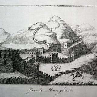 China, Great Wall; L. Cacciatore - Grande Muraglia - 1833