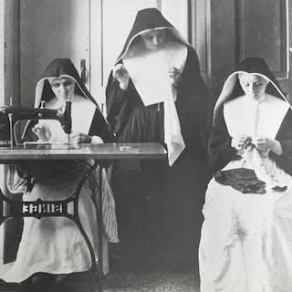 Unknown/ACME/United Press Photo- (2x) Catholic Nuns, Italy, 1945/1957