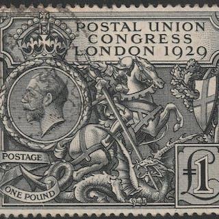 Großbritannien 1929 - Postal Union Congress 1 £ - Stanley Gibbons n.438