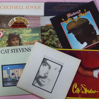 Cat Stevens - Set von 10 Cat Stevens-Alben - LPs - 1970/1990