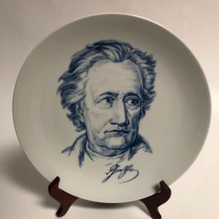 Meissen - Piatto decorativo Goethe - Porcellana