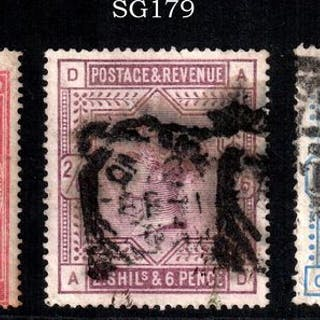 Großbritannien 1887 - 5s, 2/6s, 10s set - Stanley Gibbons 127, pl.1 / 179 / 183