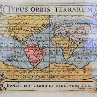 Welt; Petrus Bertius; Petrus Kaerius - Typus urbis terrarum - 1601-1620
