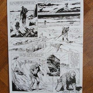 Derib - Planche originale (p.6) - L'homme qui croyait à la Californie - (1986)