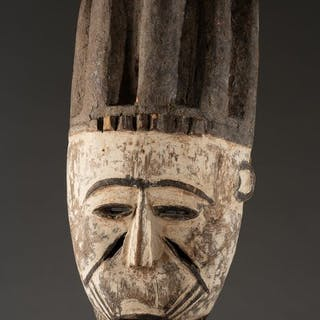 White dance mask - Wood - Igala - Nigeria