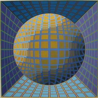 Victor Vasarely - Komposition mit abstrakter Kugel