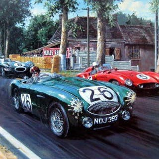 "Fine Art Print ""Sebring At Le Mans"" - Austin Healey..."