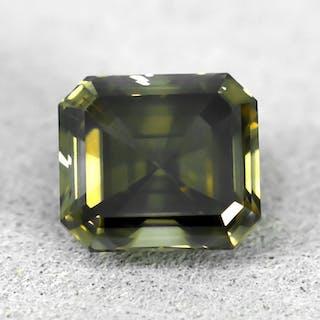 Diamant - 1.66 ct - Smaragd - Natural Fancy Grayish Brown - SI1