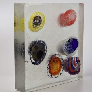 Eros Raffael - Scultura Monolite - vetro di Murano
